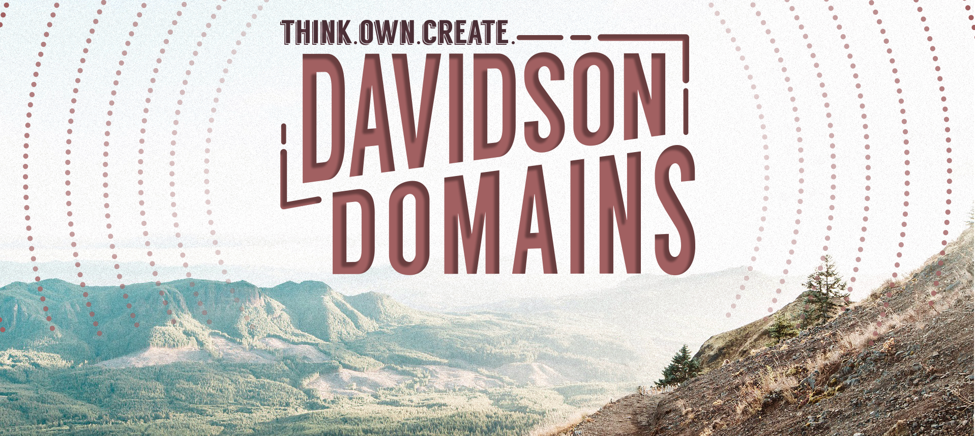 Think. Own. Create. Davidson Domains. Scenic Mountains.
